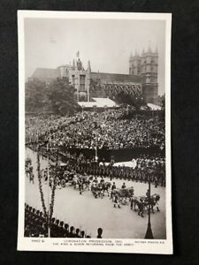 Vintage-Postcard-Royalty-A150-Coronation-Procession-1911-Returning-From-Abbey