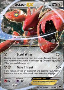 Scizor-EX-76-122-XY-Breakpoint-Ultra-Rare-Holo-Pokemon-Card-NEAR-MINT-TCG