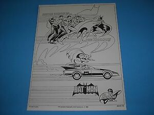 Batman 1989 Batmobile Art Silk Poster Blueprint