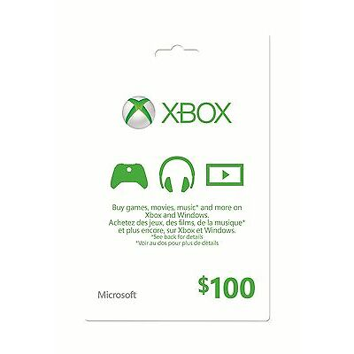 Xbox Gift Card - $100 Mail Delivery