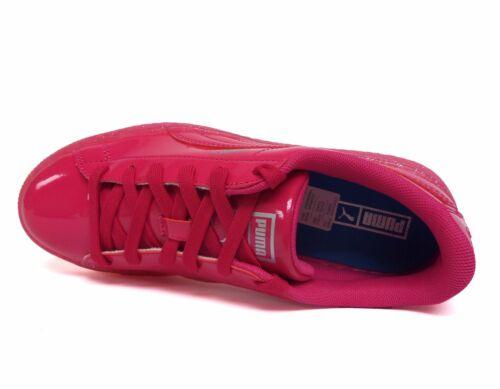Puma Big Kids/' BASKET PATENT ICED GLIT JUNIOR shoes 362461-01 b