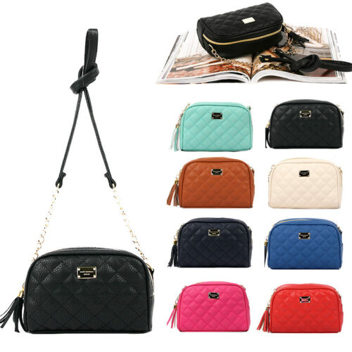 NEW Women Shoulder Quilted Bag Tote Satchel Cross Body Faux Leather Handbag