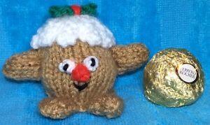 KNITTING PATTERN - Mr Pudding chocolate cover fits Christmas Ferrero Rocher | eBay