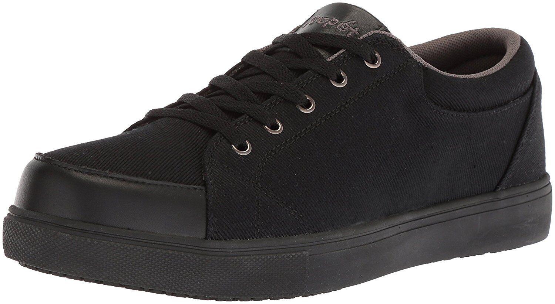 Propét Men's Ollie Skate Shoe, Black, 10.5 Wide US