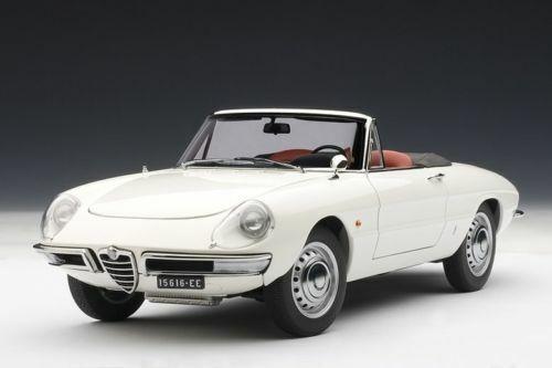 1 18 AUTOart ALFA ROMEO 1600 DUETTO SPIDER weiss 1966  NEU NEW