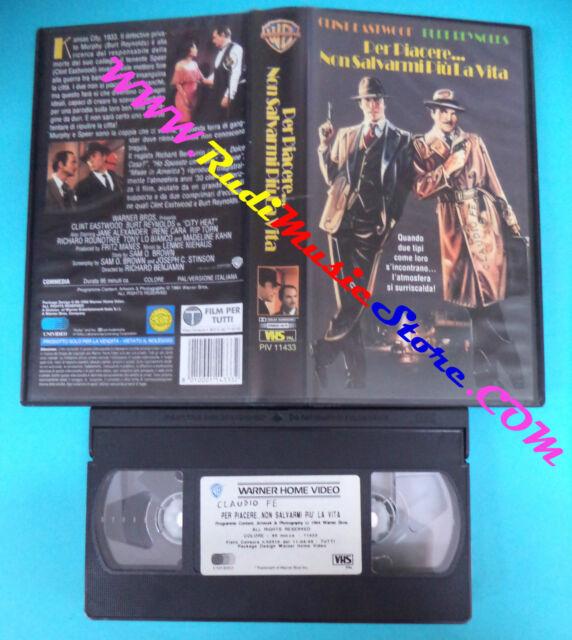 VHS film PER PIACERE NON SALVARMI PIU LA VITA 1998 WARNER GLI SCUDI (F19) no dvd
