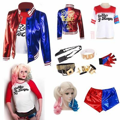 Halloween Women Kids Girl Costume Suicide Squad Harley Quinn Cosplay Fancy Dress