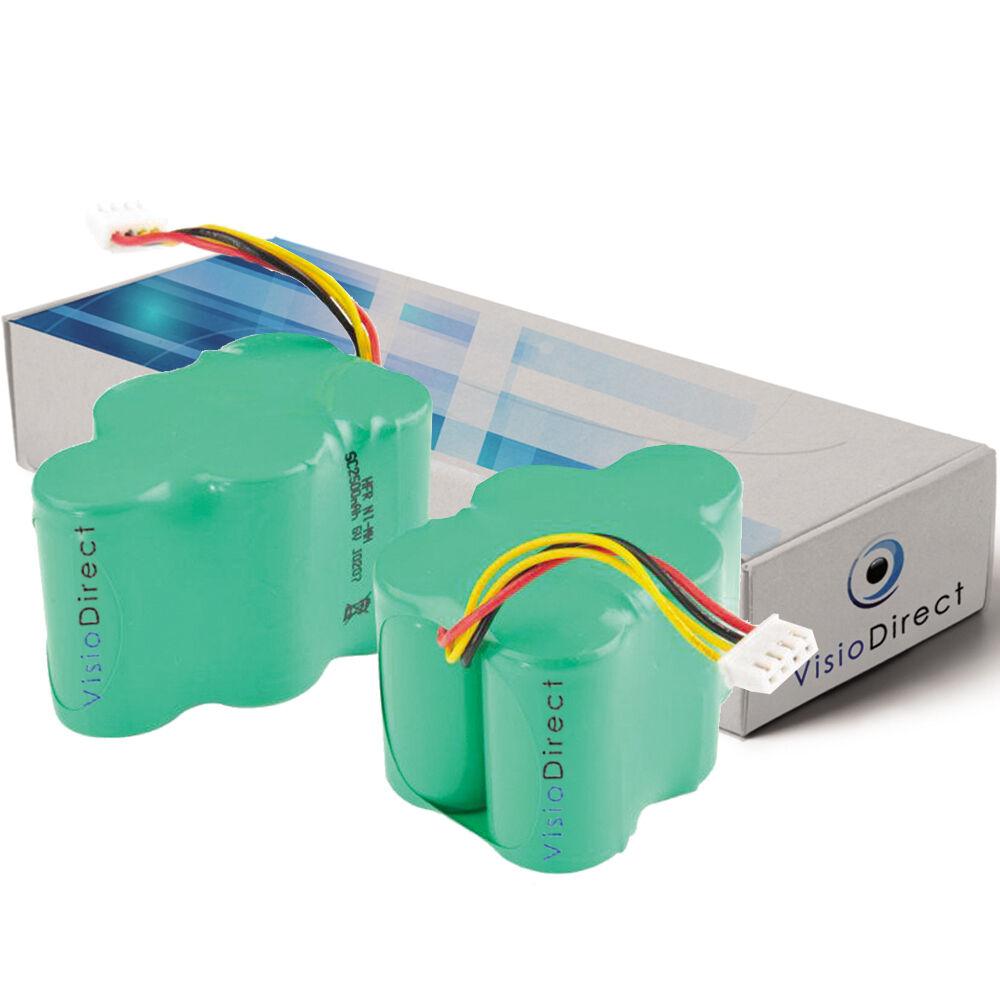 Lot de 2 batteries 6V 3500mAh pour Ecovacs Deebot D730 - Société Française -