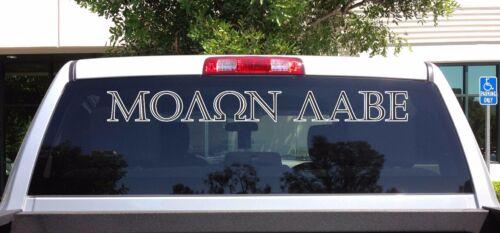 08-06 Molon Labe 2nd Amendment Come and Take it Car Window Vinyl Decal Sticker