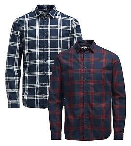 JACK-amp-JONES-Long-Sleeve-Shirt-New-Mens-Slim-Fit-Check-Casual-Smart-Sope-Shirts