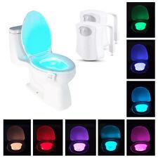 2-Pack: 8-Color LED Motion Sensing Automatic Toilet Night Light