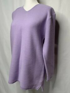 Attention-Lilac-Purple-long-sleeve-sweater-Blouse-Textured-42-looks-Like-Medium
