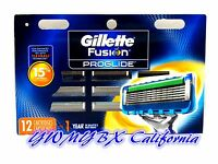 Gillette Fusion Proglide Razor Blades 12 Cartridges, 100%AUTHENTIC,*NEW*#013J
