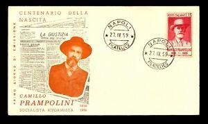 Italy 1959 Camillo Prampolini FDC - L9256