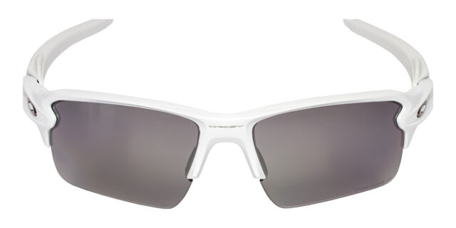 2b40250ce5 Oakley Flak 2.0 OO9188-76-59 Men s White Prizm Black Polarized Lens  Sunglasses