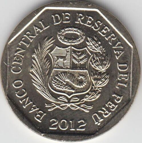 """PERU 1 Nuevo Sol 2012 /""""Wealth and Pride of Peru/"""" Piedra de Saywite UNC"""