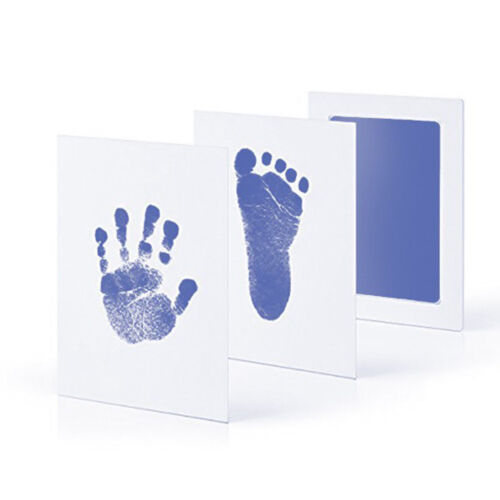 Newborn Baby Handprint Footprint Imprint Clean Touch Ink Pad DIY Photo Frame Kit