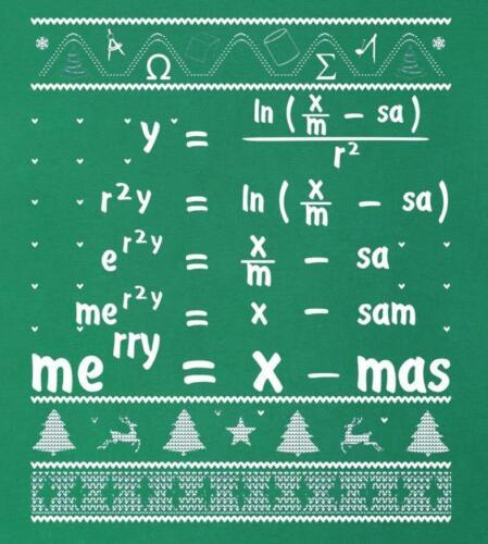 Christmas # 29-8 x 10 T-shirt iron-on transfer math equation