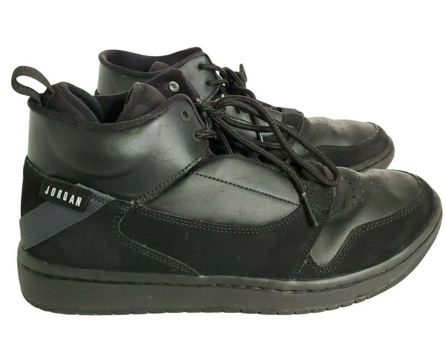 Nike Air Jordan Fadeaway Shoes Men's 8 Black Lace Up Jordan 23 A01329-003