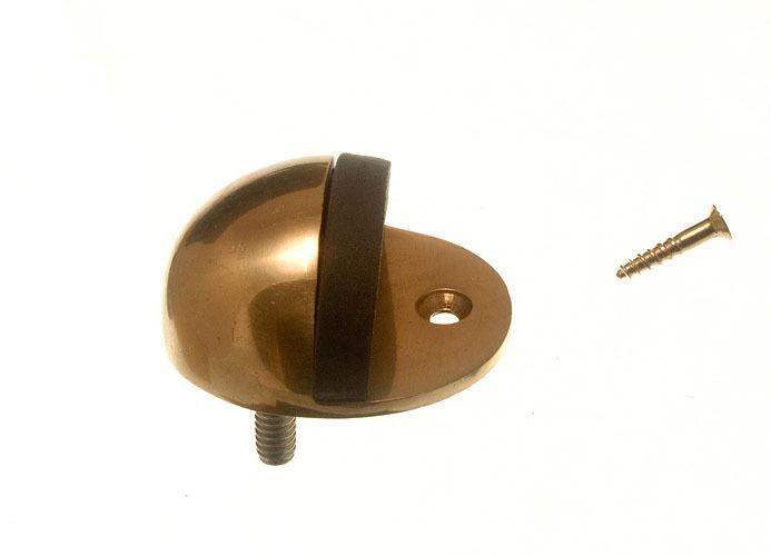Nuevo 20 de puerta parada estancia Oval tipo 75MM de 3 pulgadas de latón pulido incluso tornillos
