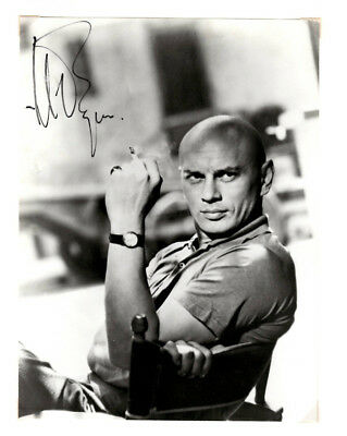 Yul Brynner Signed Autographed Photo Picture - King and I, Westworld
