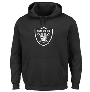 Cheap NFL Oakland Raiders Majestic Men's Tek Patch Pullover Hoodie Black  free shipping