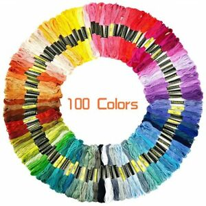 Lot-100-Multi-Colors-Cross-Stitch-Floss-Cotton-Thread-Embroidery-Sewing-Skeins