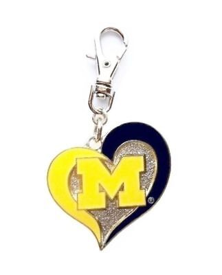 MICHIGAN STATE UNIVERSITY SPARTANS CHARM ZIPPER PULL OR CAT DOG COLLAR TAG PURSE