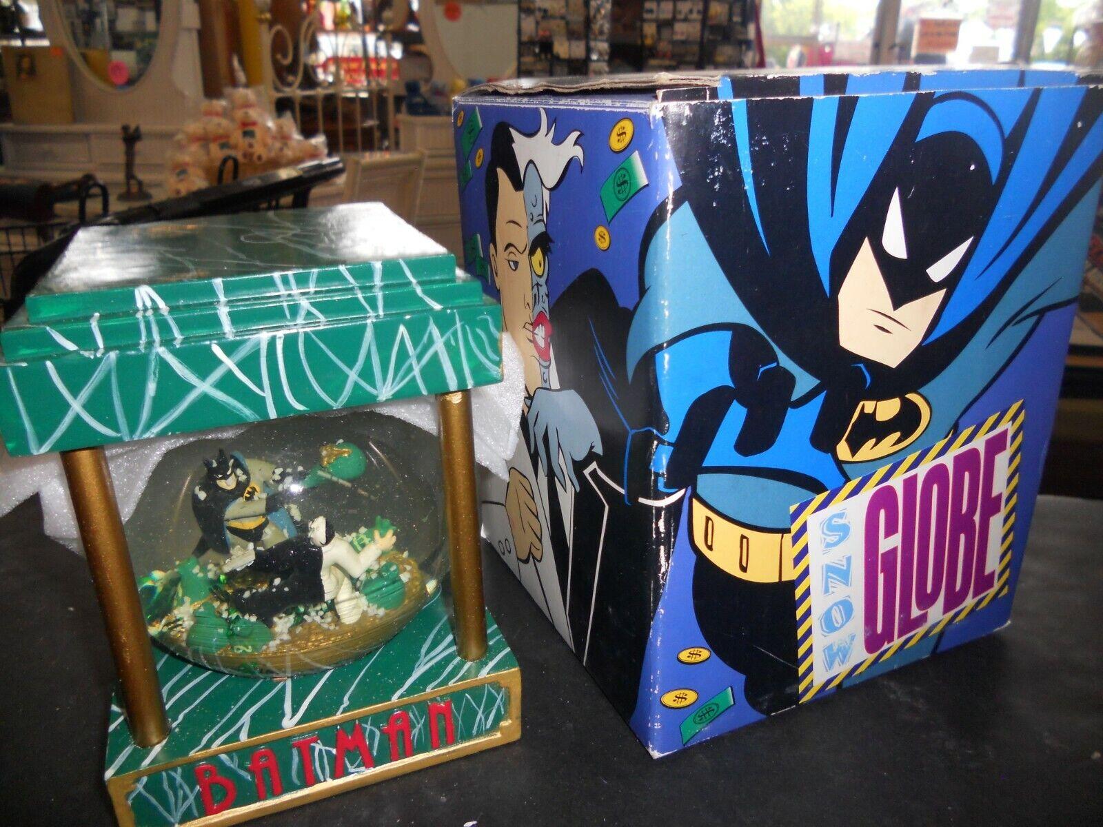 DC Comics Batman Y Dos Cara atraco bola de nieve con Caja Original