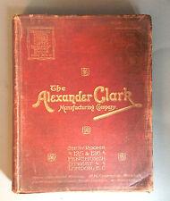 Silver catalogue Alexander Clark Manufacturing Co, London circa 1900 Illustrated