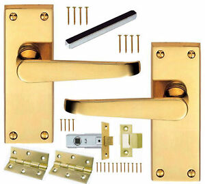 Brass Internal Door Handle Packs Lever LATCH or PRIVACY/Toilet + ...
