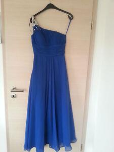 Das Bild wird geladen Abendkleid-lang-blau-Chiffon-asymetrisch-Gr-34- oneshoulder- f587864ddc