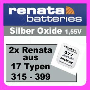 2x-Renata-Uhren-Batterie-Knopfzelle-aus-17-Typen-z-B-315-317-319-364-371-377-379