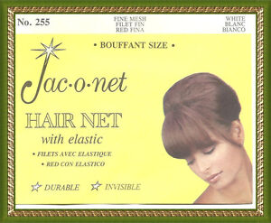 Jac-O-Net Bouffant Invisible fine Hair retro very thin Net white