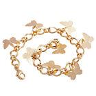 Wedding Women jewelry Gold Plated butterfly pendant Beautiful Bracelet