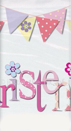 Pink Christening Girls Party Paper Tableware Religious Supplies Pink Girl