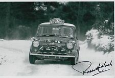 Paddy Hopkirk Hand Signed 12x8 Photo Mini Cooper Rally 7.