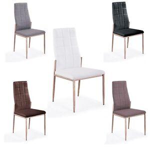 Detalles de Silla de comedor, silla de salon o cocina, patas color madera,  modelo Markus