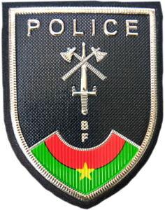 Burkina-Faso-Policia-Nacional-pais-africano-Parche-recuerdos-gala-EB01445