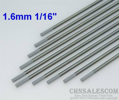 "10 pcs WC20 1.6X150mm 1//16X6/"" Ceriated Tungsten Electrode Grey"