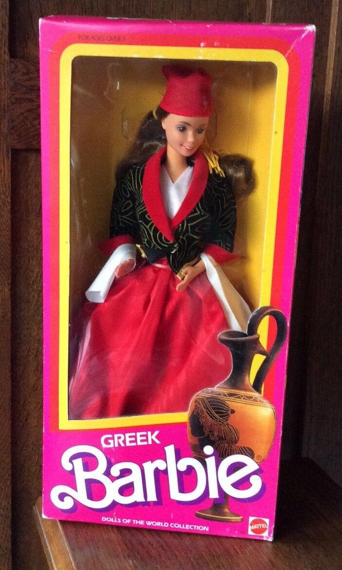 1985 Dolls of the World Greek Barbie doll NRFB Greece Grecian