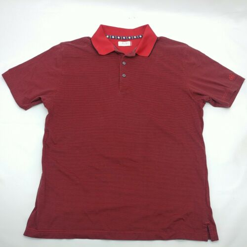 Ben Hogan Mens Red And Blue Short Sleeve Collared