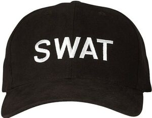 4833046edb0 Black Embroidered SWAT Law Enforcement Adjustable Cap 613902532205 ...