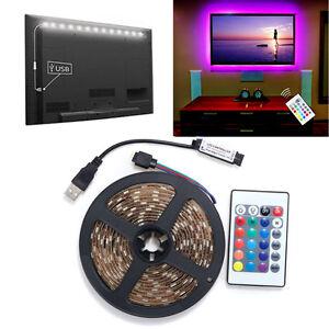 5v 5050 60smdm rgb led strip light bar tv back lighting kitusb a imagem est carregando 5v 5050 60smd m rgb led fita de aloadofball Images