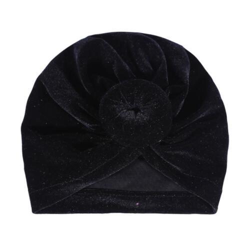 Baby Toddler Knot Turban Head Wrap Hat Velvet Sretch India Ear Cap Winter Warmer