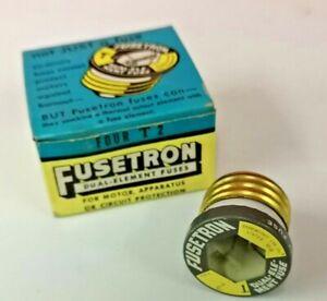 4-PK-T-2-FUSETRON-Plug-Fuse-BUSS-Bussmann-NEW-Fuses-2-Amp-NEW-DUAL-ELEMENT