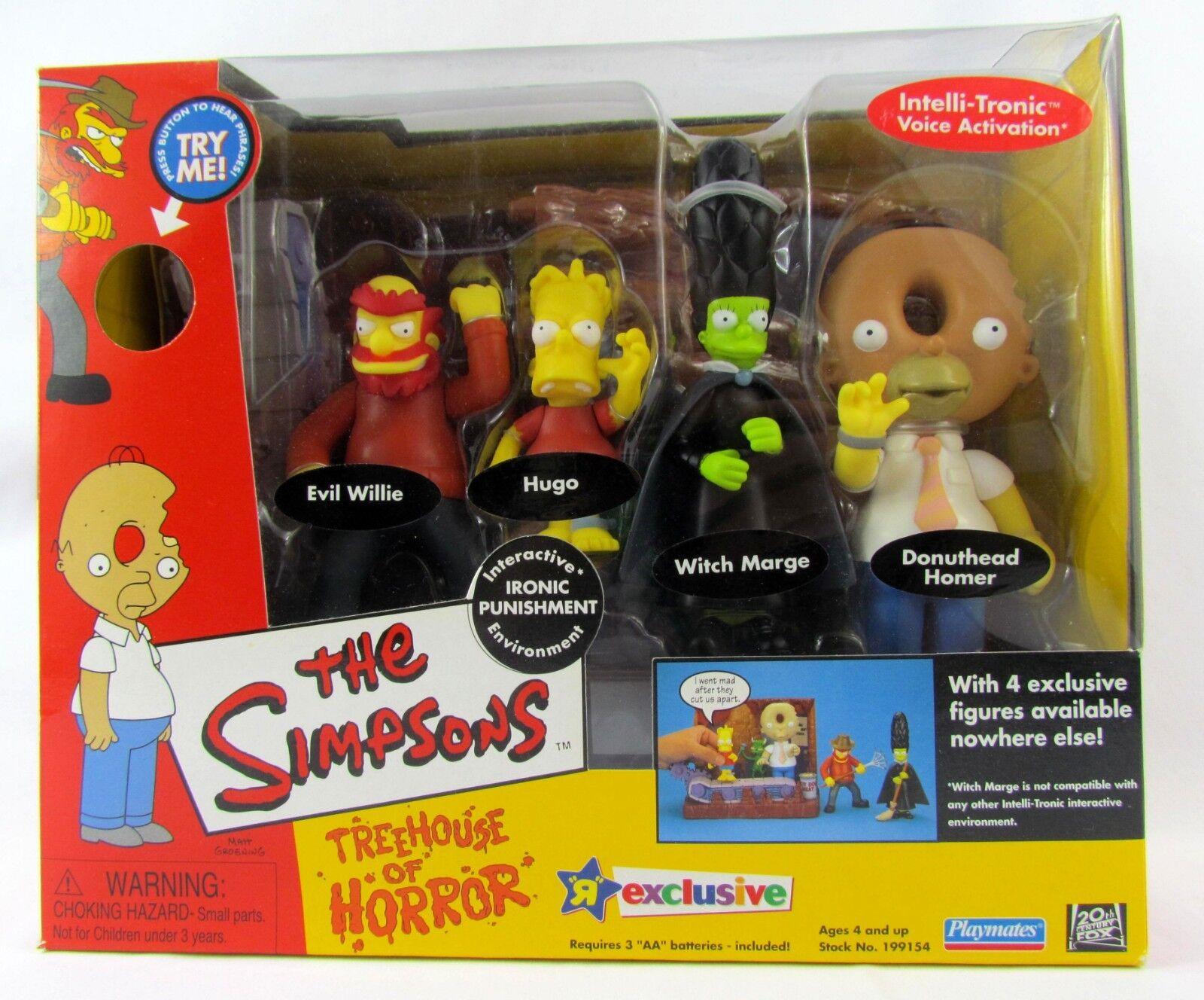 The Simpsons Treehouse of Horrors Playset Playmates Ironic Punishment Nuovo Sealed
