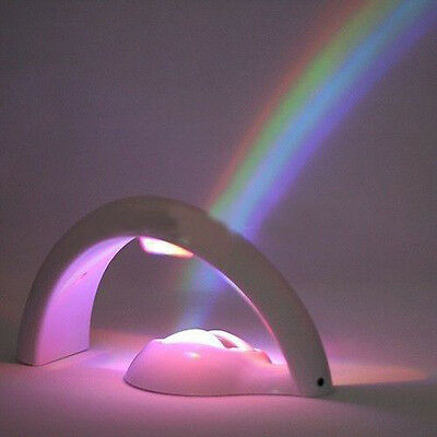 Colorful LED Rainbow Night Light Lamp Nursery Room Decor Gift Kid child