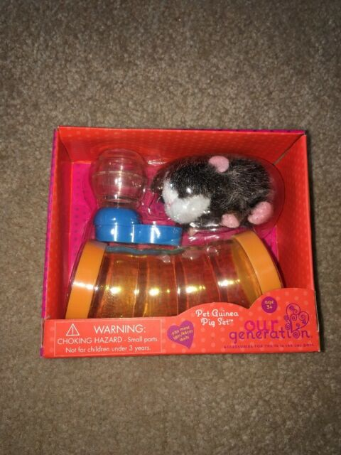 """American Our Generation Pet Guinea Pig Play set w water /& Tube 18/"""" Girl Doll"""