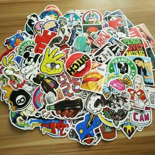 US seller 1000 Sticker Bomb Graffiti Vinyl For Car Skate Skateboard Laptop